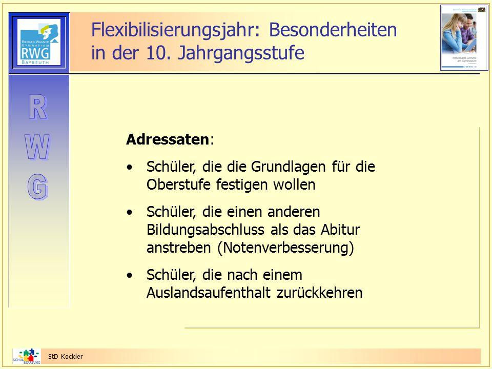 Flexibilisierungsjahr: Besonderheiten in der 10. Jahrgangsstufe