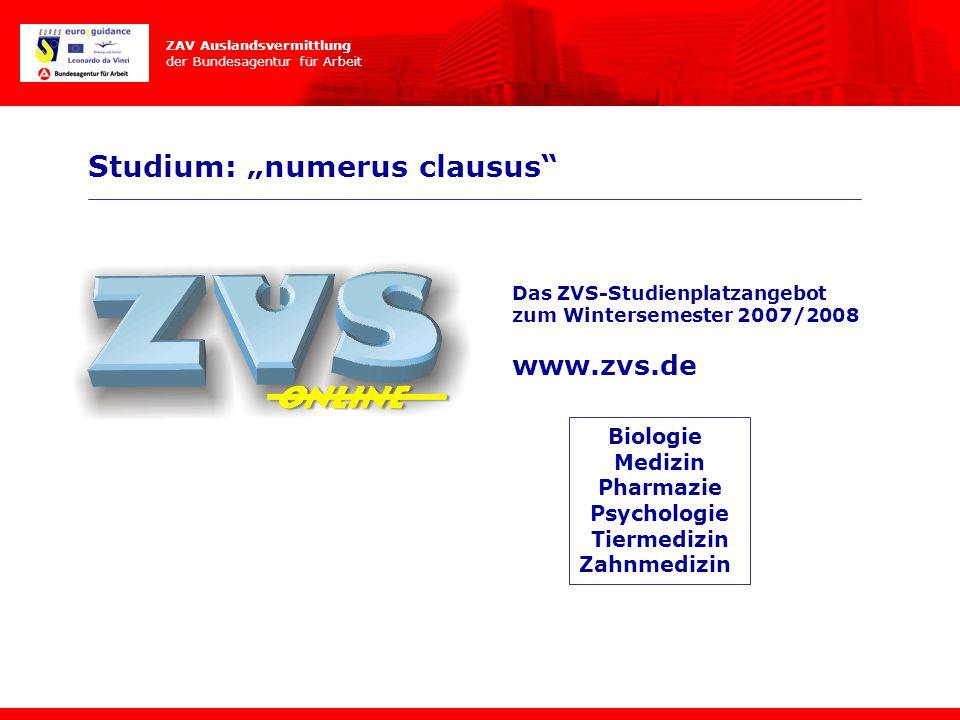 """Studium: """"numerus clausus"""