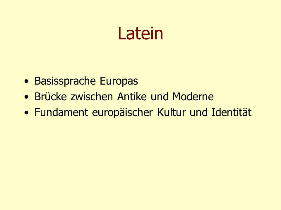 Latein Basissprache Europas Brücke zwischen Antike und Moderne