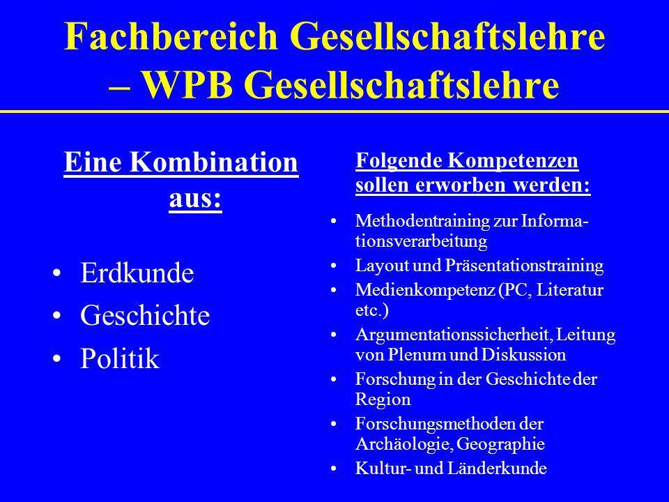 Fachbereich Gesellschaftslehre – WPB Gesellschaftslehre