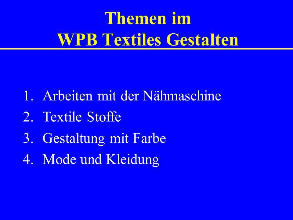 Themen im WPB Textiles Gestalten