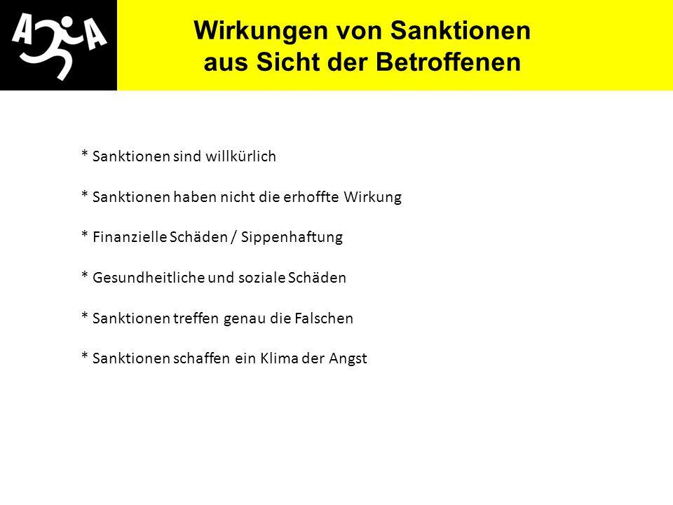 Wirkungen von Sanktionen aus Sicht der Betroffenen