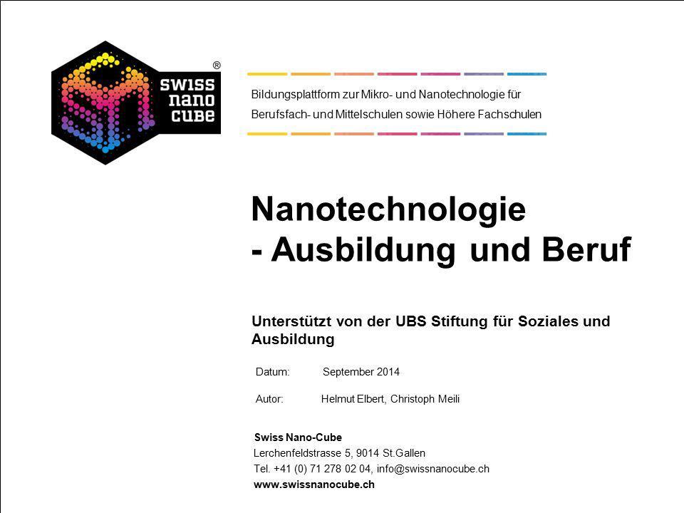 Nanotechnologie - Ausbildung und Beruf