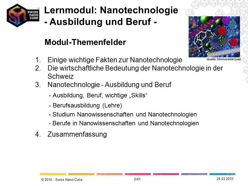 Lernmodul: Nanotechnologie - Ausbildung und Beruf -