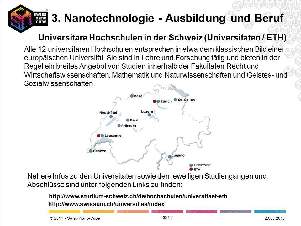 3. Nanotechnologie - Ausbildung und Beruf