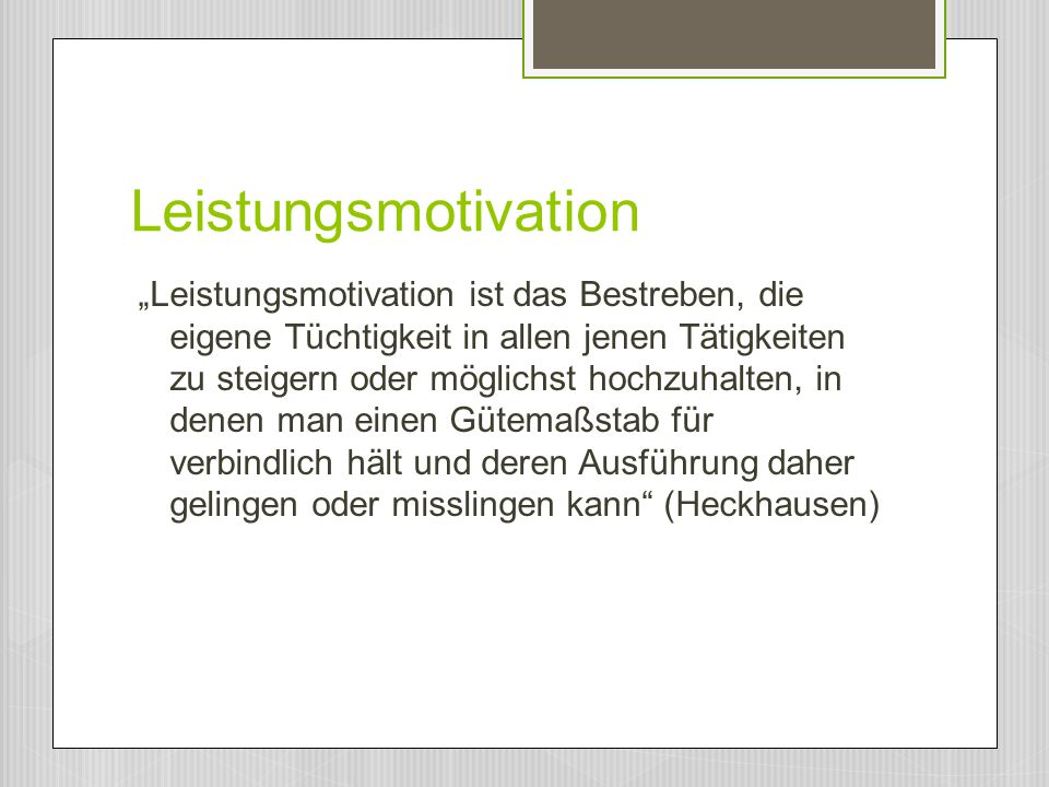 Leistungsmotivation