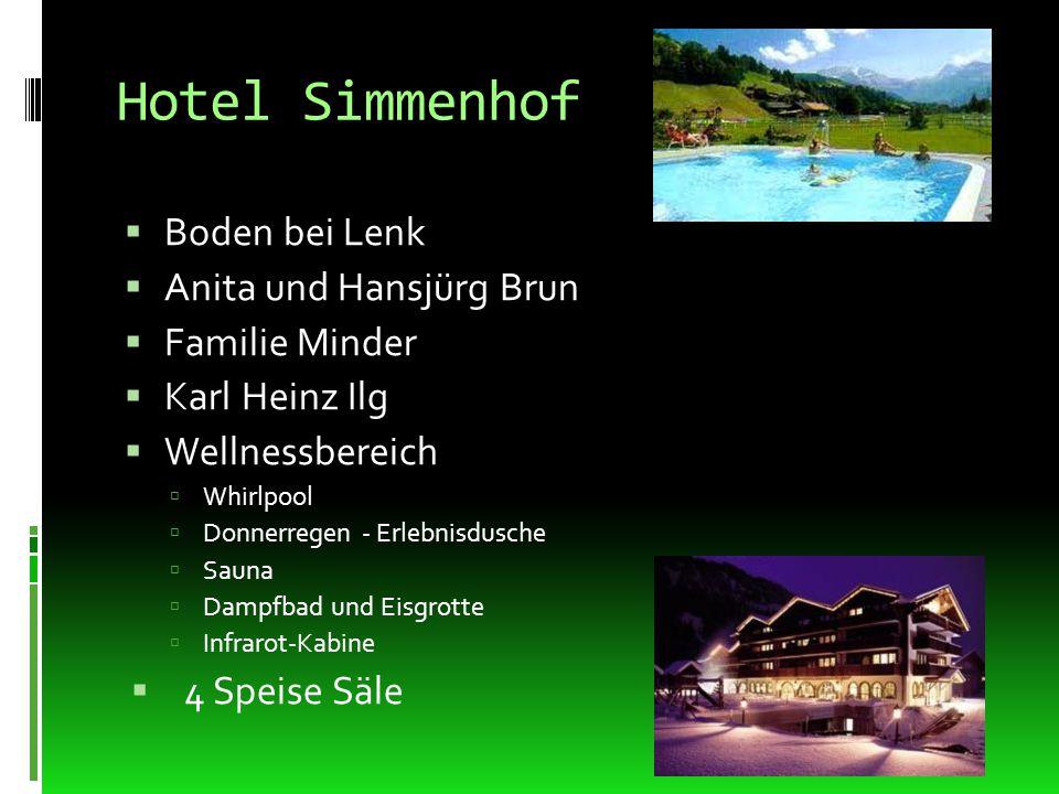 Hotel Simmenhof Boden bei Lenk Anita und Hansjürg Brun Familie Minder