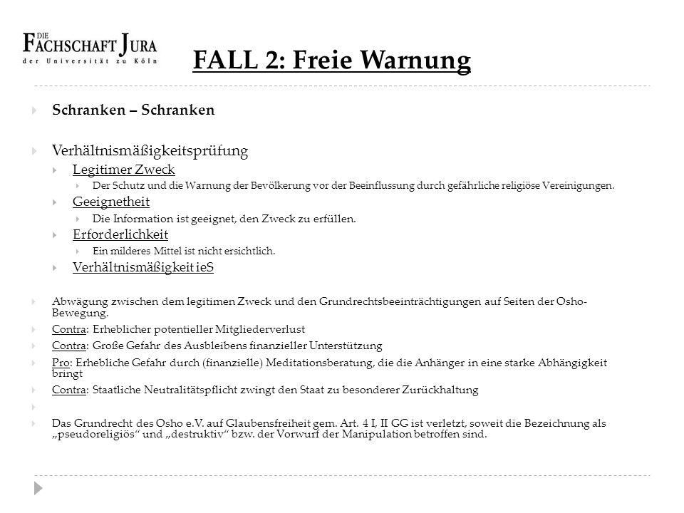 FALL 2: Freie Warnung Schranken – Schranken