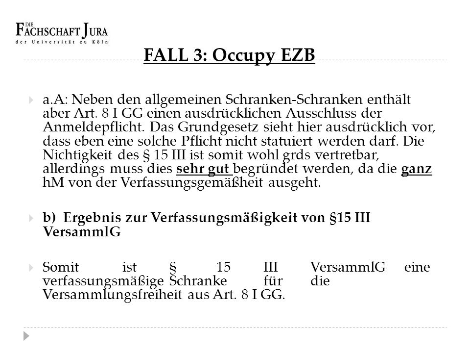 FALL 3: Occupy EZB