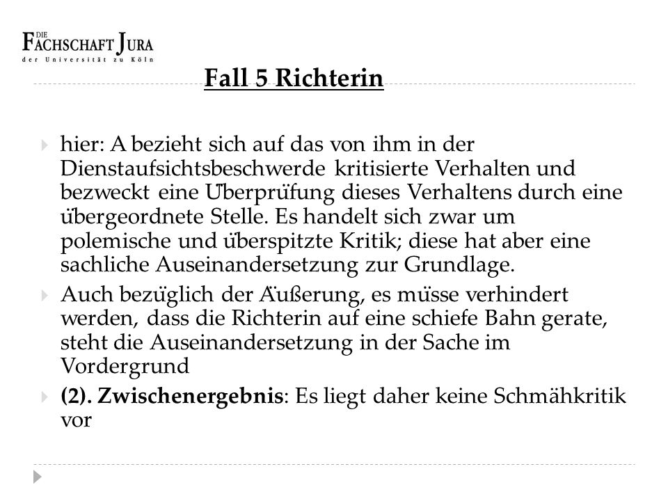 Fall 5 Richterin