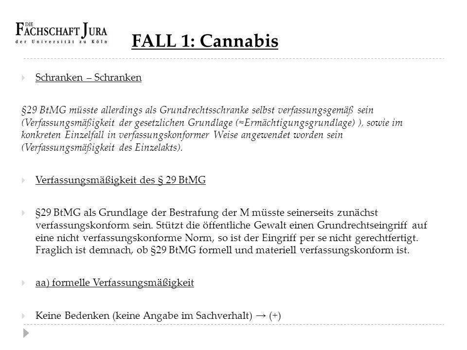 FALL 1: Cannabis Schranken – Schranken