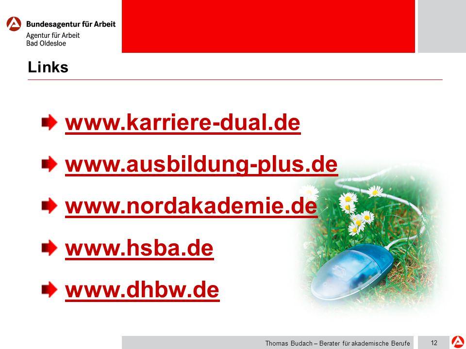 www.karriere-dual.de www.ausbildung-plus.de www.nordakademie.de