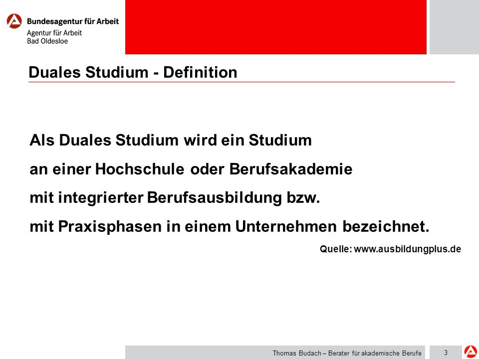 Duales Studium - Definition