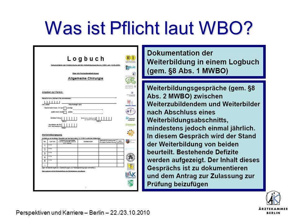Was ist Pflicht laut WBO