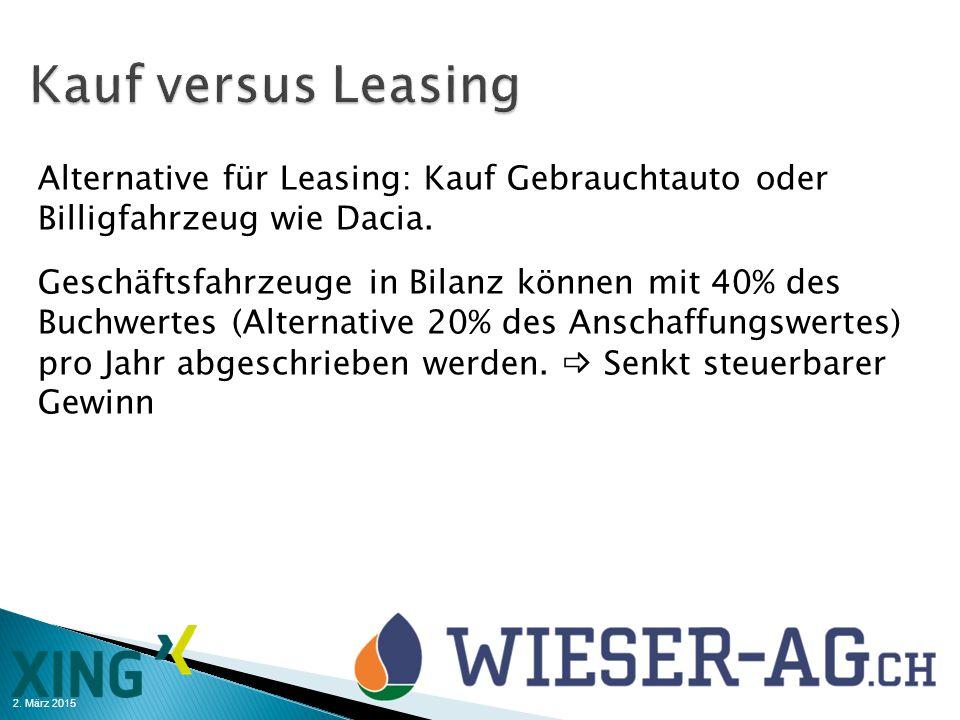 Kauf versus Leasing