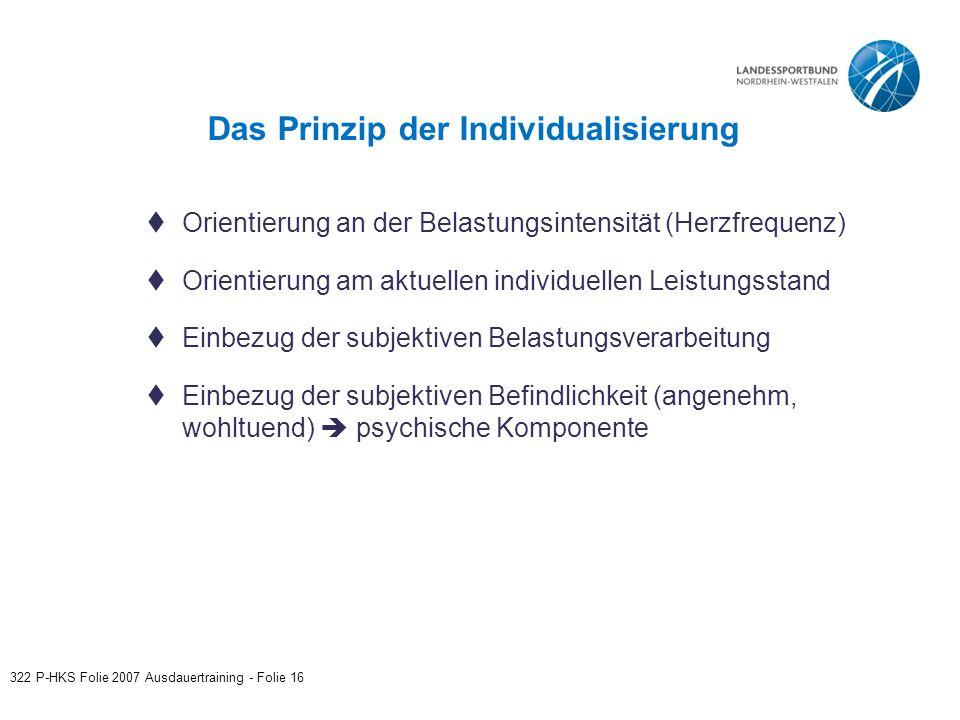 Das Prinzip der Individualisierung