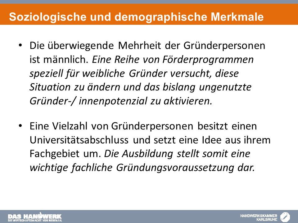 Soziologische und demographische Merkmale