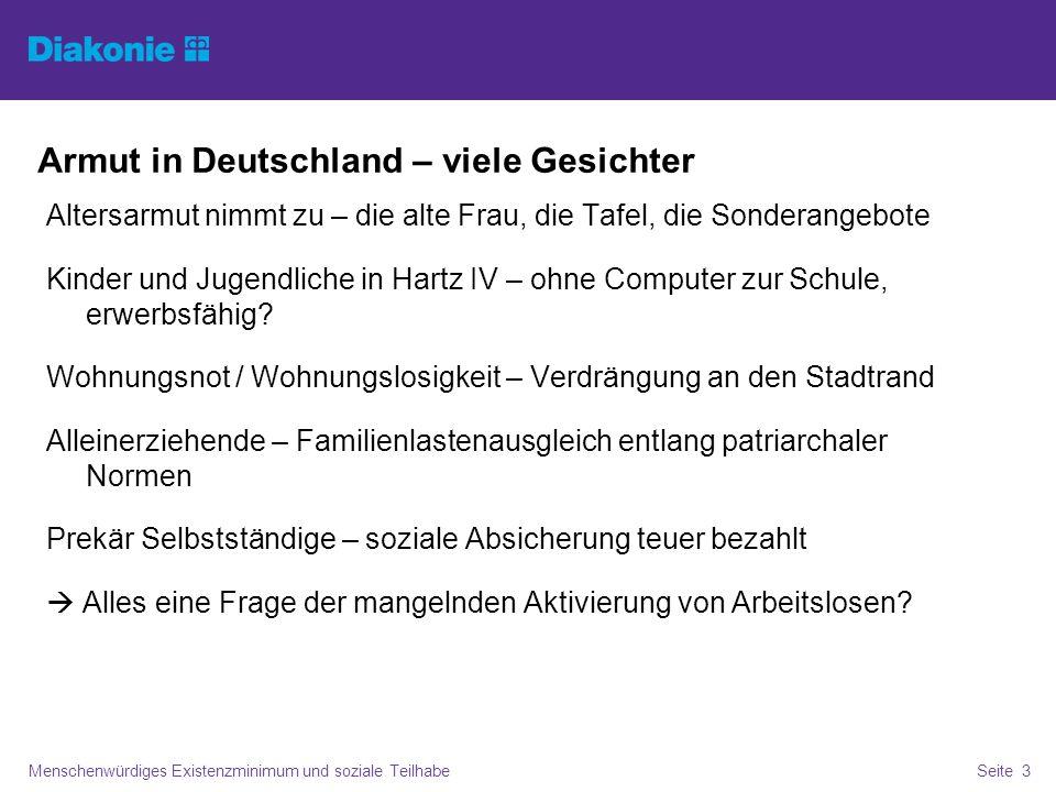 Armut in Deutschland – viele Gesichter