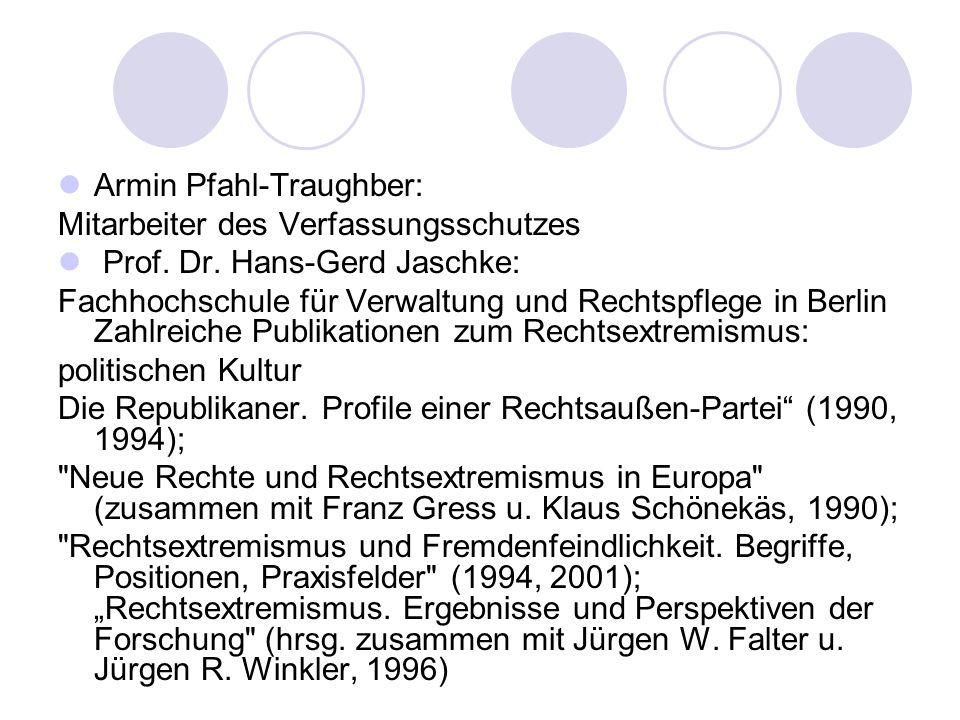 Armin Pfahl-Traughber: