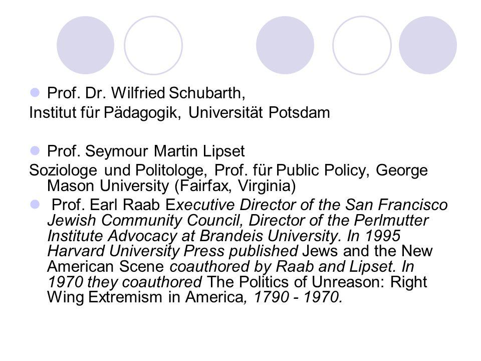 Prof. Dr. Wilfried Schubarth,