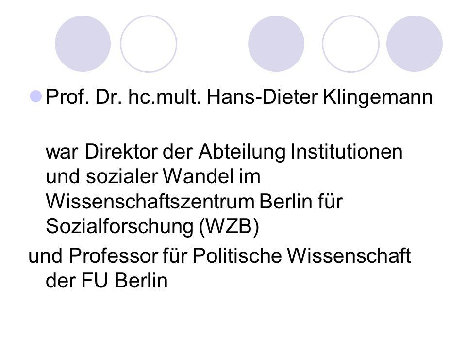 Prof. Dr. hc.mult. Hans-Dieter Klingemann