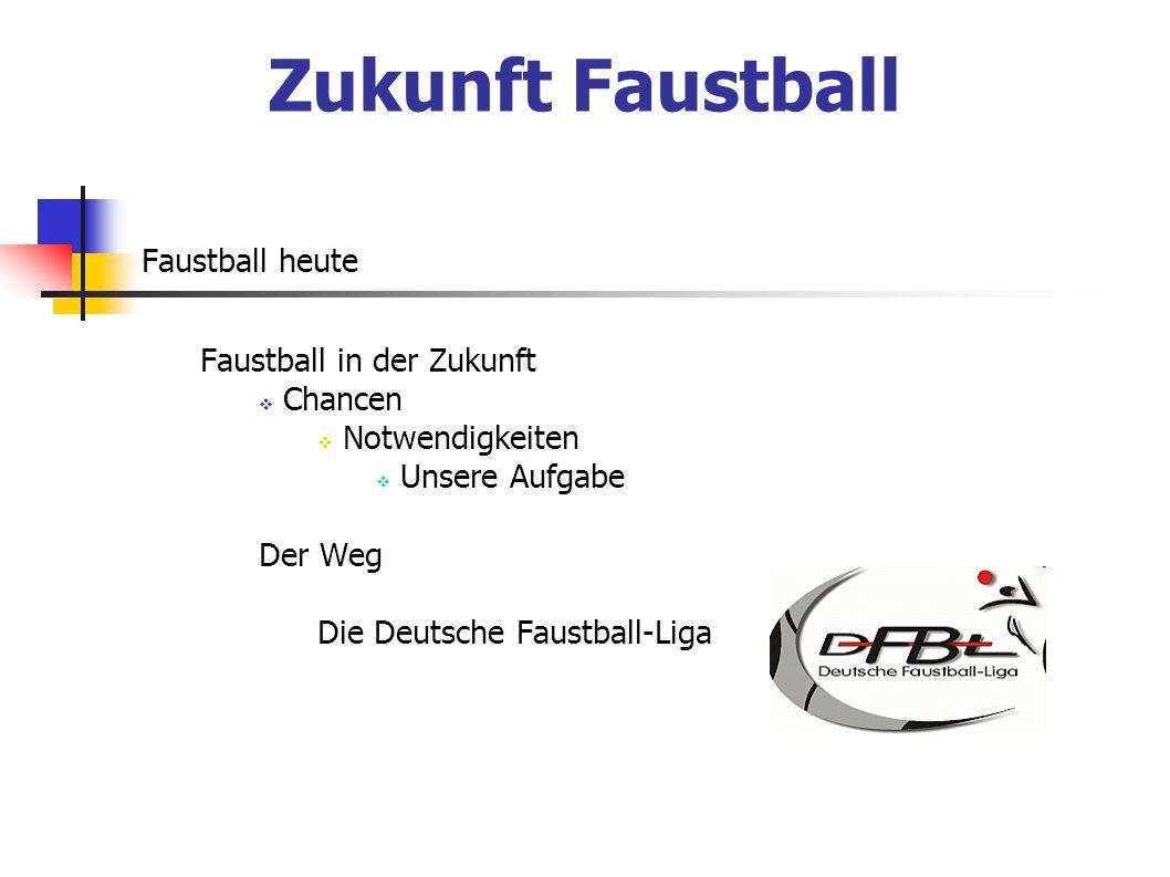 Zukunft Faustball Faustball heute Faustball in der Zukunft Chancen