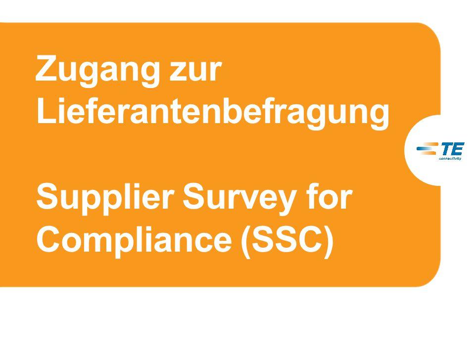 Zugang zur Lieferantenbefragung Supplier Survey for Compliance (SSC)