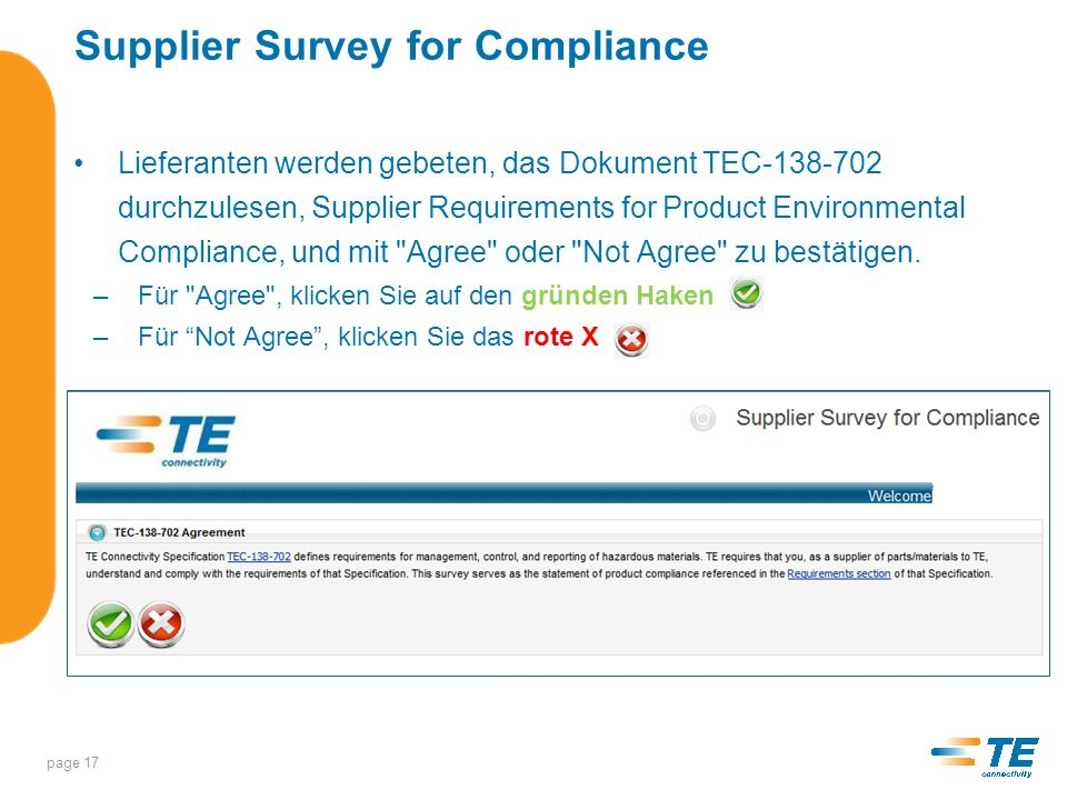 Supplier Survey for Compliance