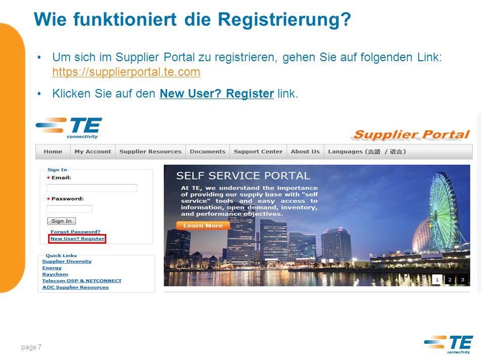 Wie funktioniert die Registrierung