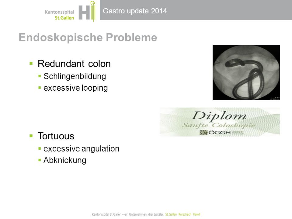 Endoskopische Probleme