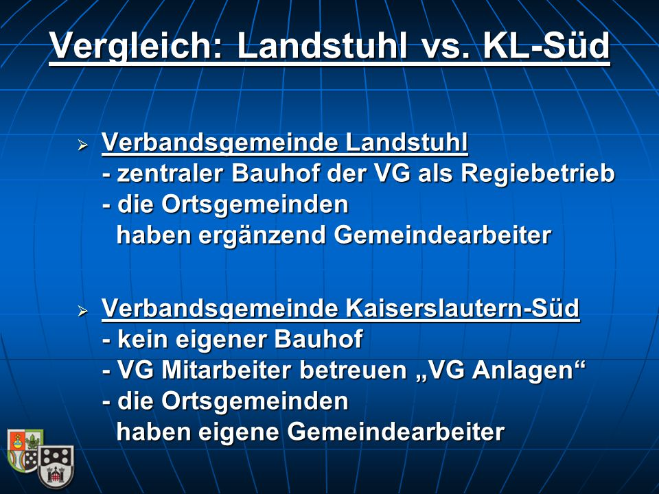 Vergleich: Landstuhl vs. KL-Süd