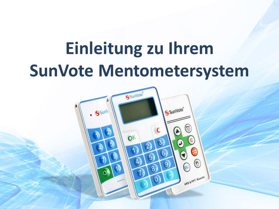 Einleitung zu Ihrem SunVote Mentometersystem