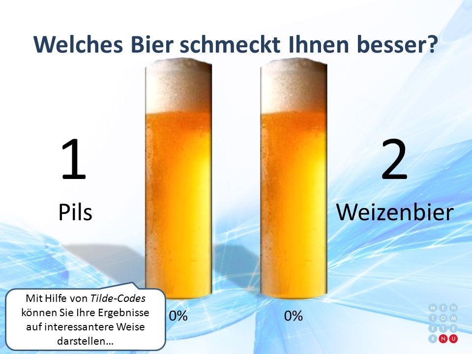 Welches Bier schmeckt Ihnen besser