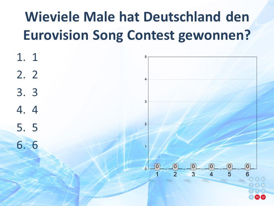 Wieviele Male hat Deutschland den Eurovision Song Contest gewonnen