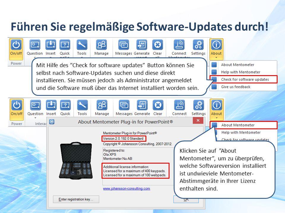 Führen Sie regelmäßige Software-Updates durch!