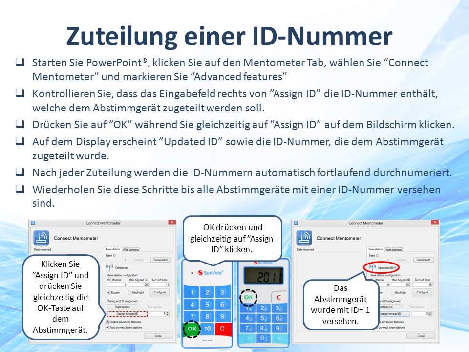 Zuteilung einer ID-Nummer