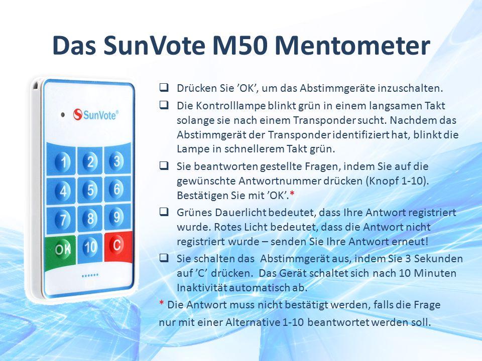 Das SunVote M50 Mentometer
