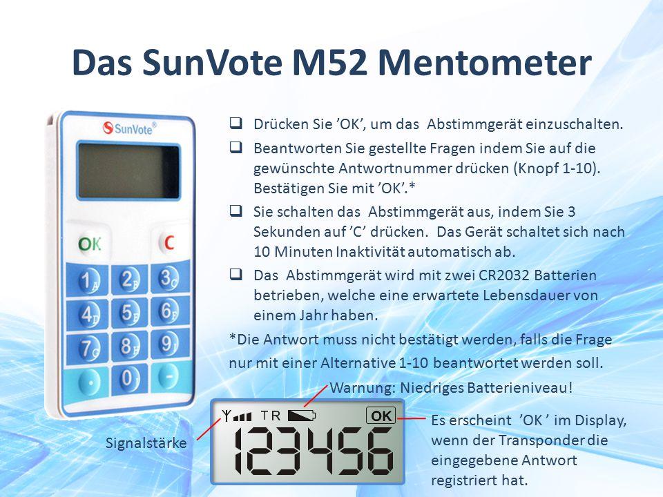 Das SunVote M52 Mentometer
