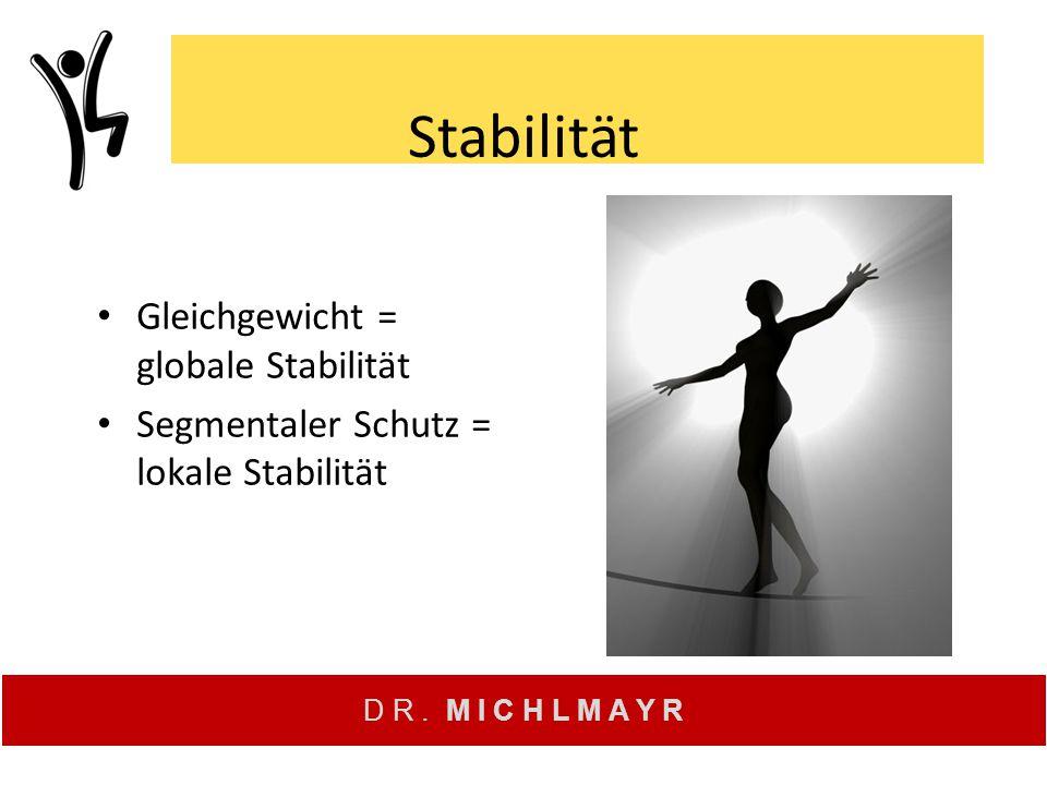 Stabilität Gleichgewicht = globale Stabilität