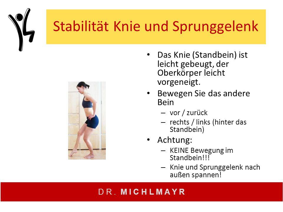 Stabilität Knie und Sprunggelenk