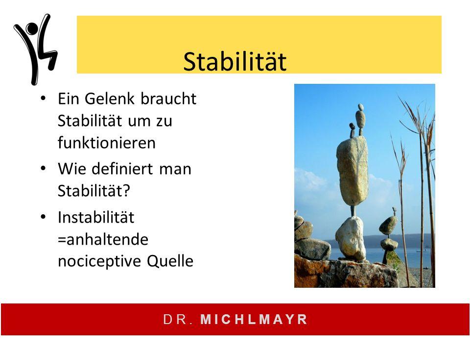 Stabilität Ein Gelenk braucht Stabilität um zu funktionieren