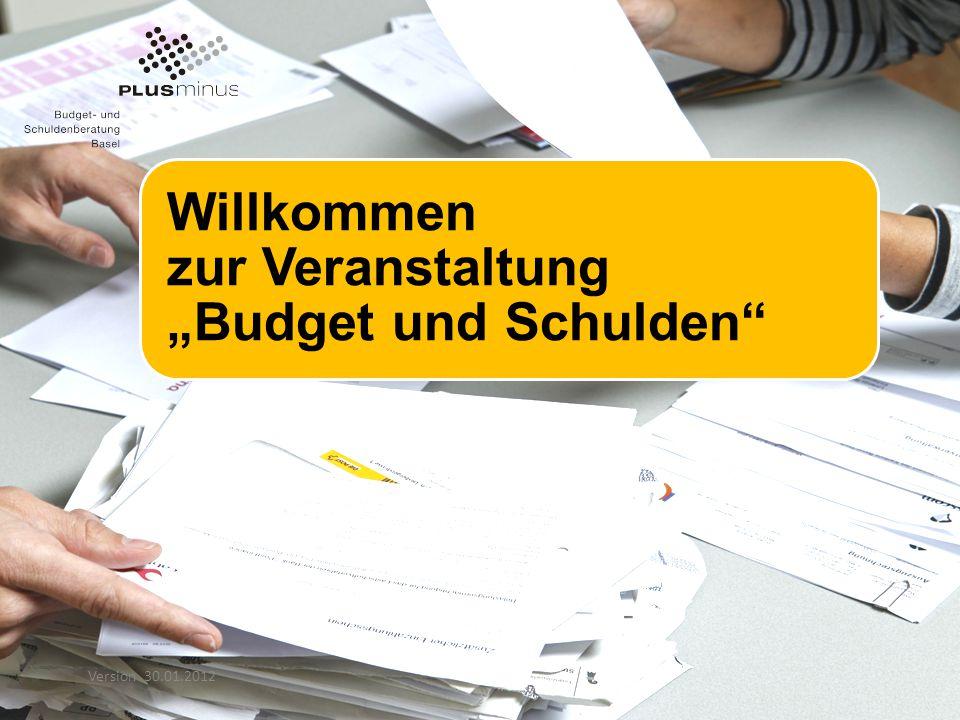 """Willkommen zur Veranstaltung """"Budget und Schulden"""