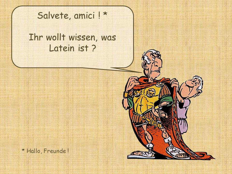 Ihr wollt wissen, was Latein ist