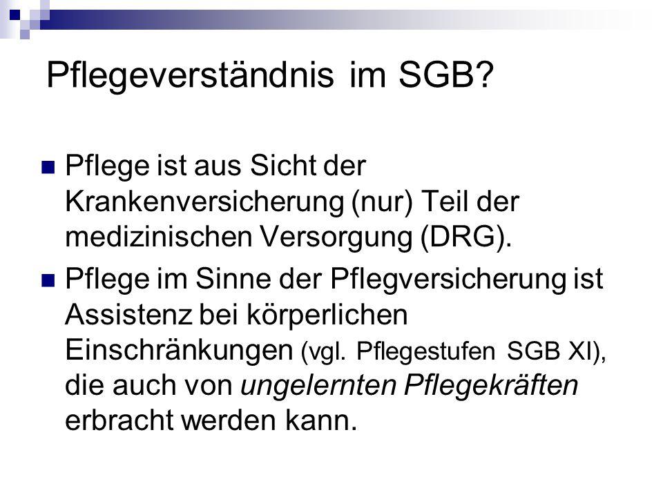 Pflegeverständnis im SGB