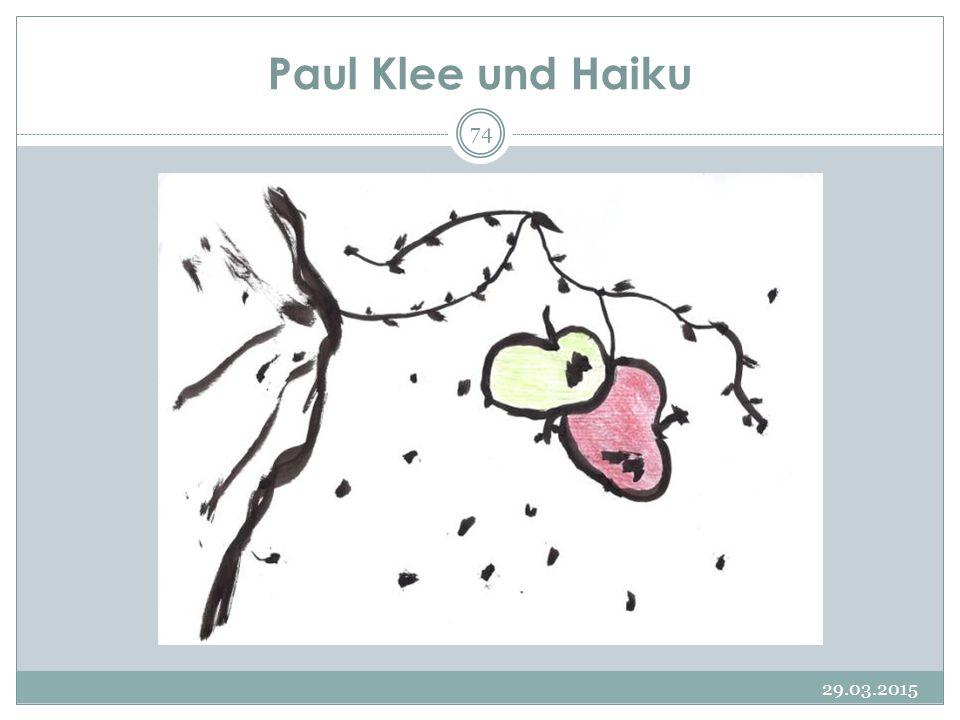 Paul Klee und Haiku 09.04.2017