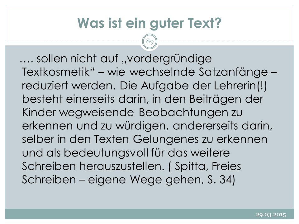 Was ist ein guter Text