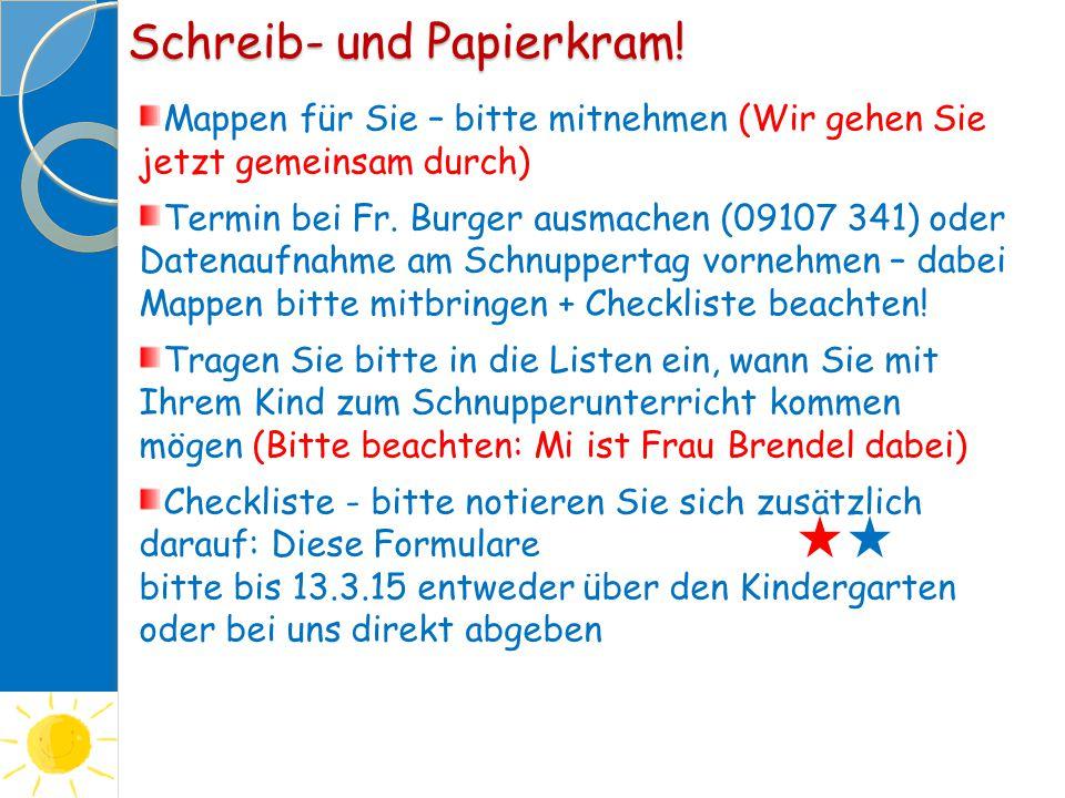 Schreib- und Papierkram!