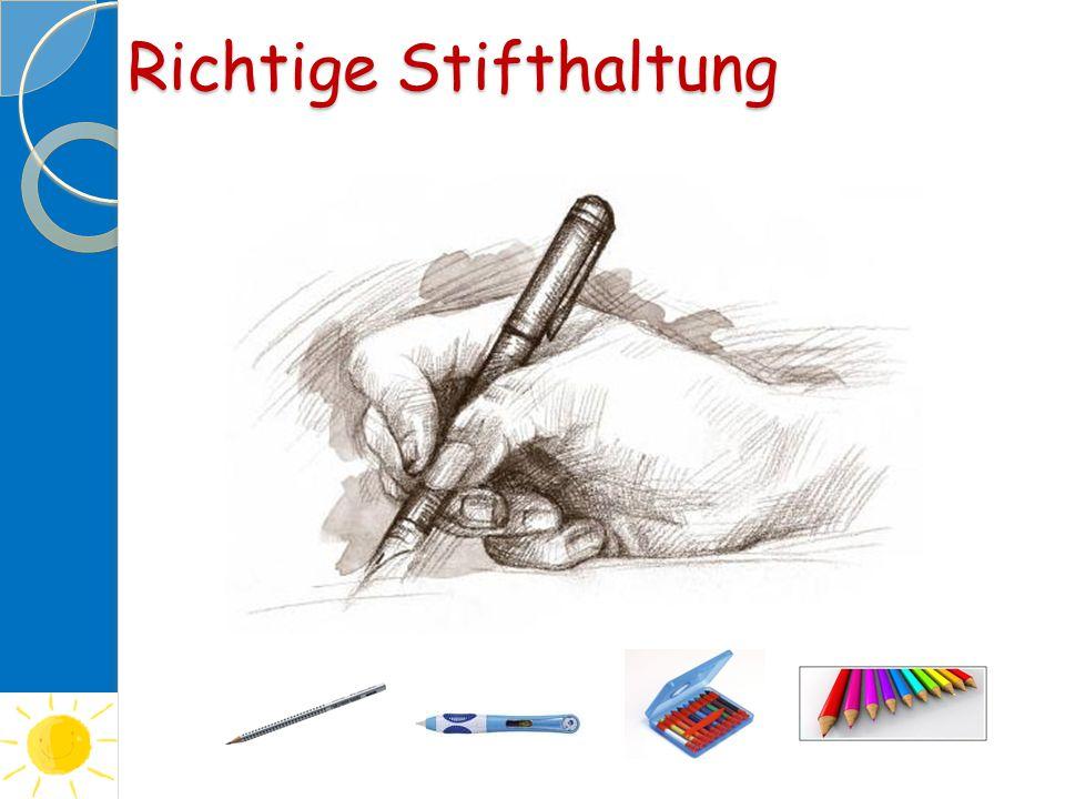 Richtige Stifthaltung