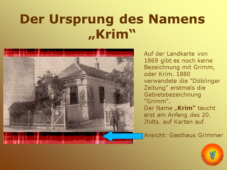 """Der Ursprung des Namens """"Krim"""
