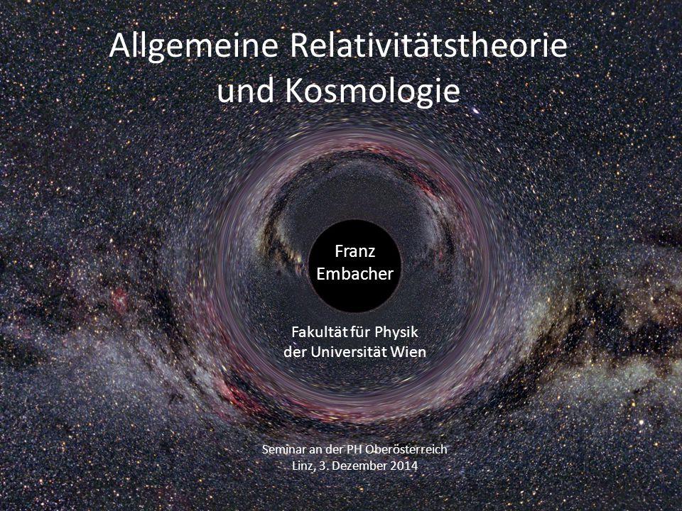 Allgemeine Relativitätstheorie und Kosmologie